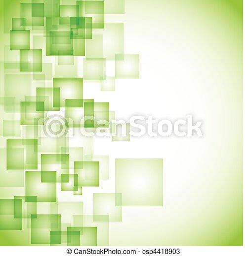 abstrakt, baggrund, grønne, firkantet - csp4418903