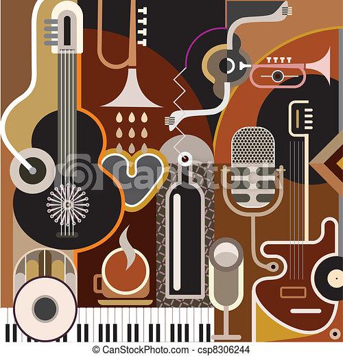 abstrakt, musik, baggrund - csp8306244