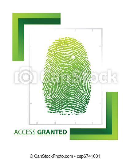 adgang, granted, illustration, tegn - csp6741001