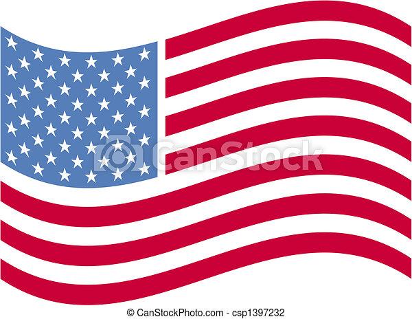 amerikaner, kunst, flag, hæfte - csp1397232