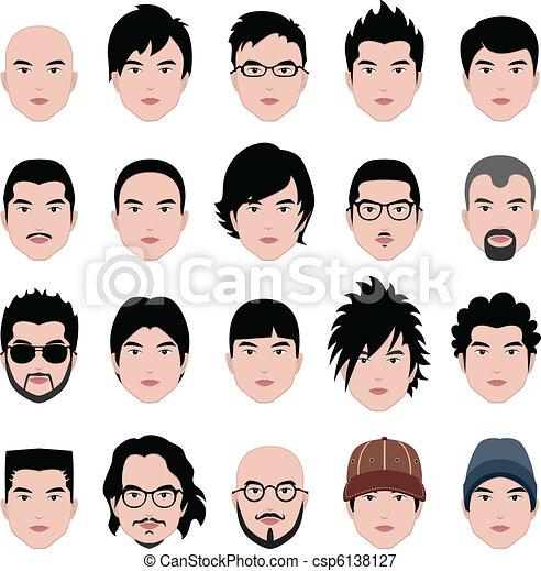 anføreren, hairstyle, zeseed, hår, mandlig, mand - csp6138127