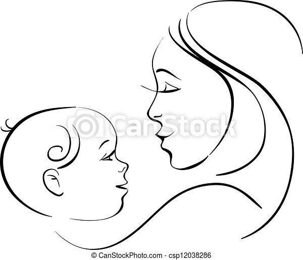 baby, mor - csp12038286