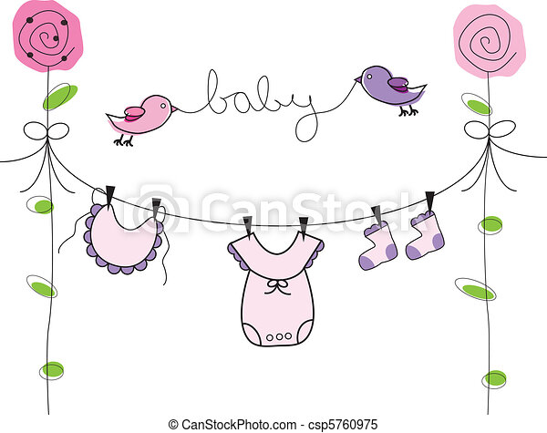 baby pige, beklæde, klæder - csp5760975