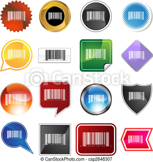 barcode, sæt, etikette - csp2648307