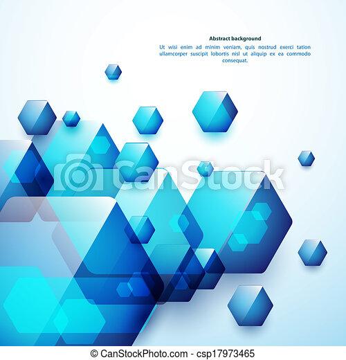 blå, anvendelse, firma, baggrund., abstrakt, glas, presentation., hexahedrons, din - csp17973465