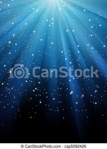 blå, eps, baggrund., stjerner, 8, stribet - csp5092426