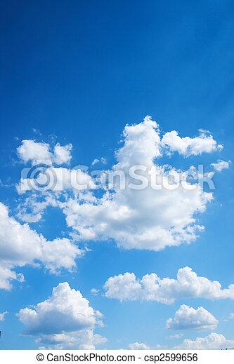 blå, lys himmel, farverig, baggrund - csp2599656