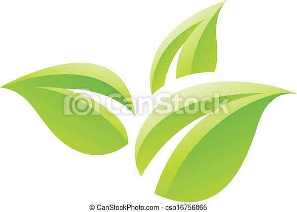 blade, grønne, blanke, ikon - csp16756865