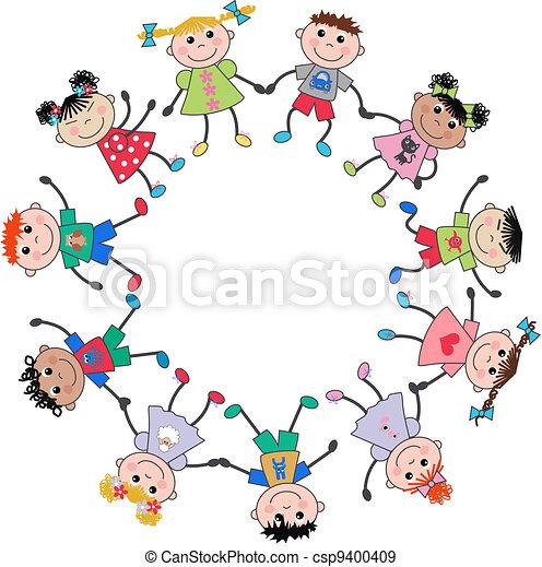 blandet, børn, etniske - csp9400409