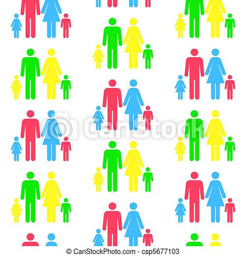 blive, forskellige, mønster, seamless, nogen, besteget, person, gentagen, color.(can, silhuetter, size) - csp5677103