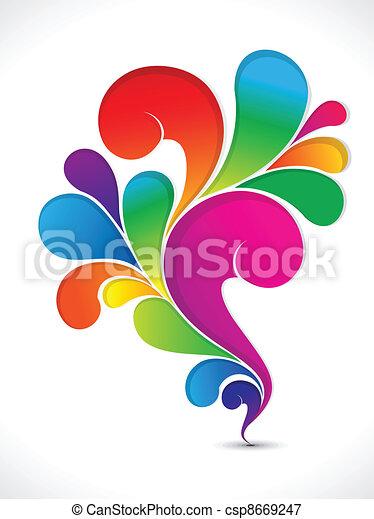 blomstrede, regnbue, abstrakt, kunstneriske - csp8669247