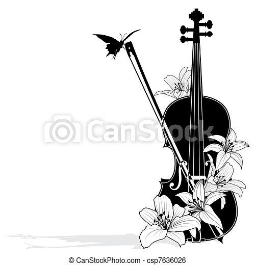 blomstrede, vektor, musikalsk komposition - csp7636026