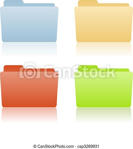 brochuren, fil, sted, etikette - csp3269931
