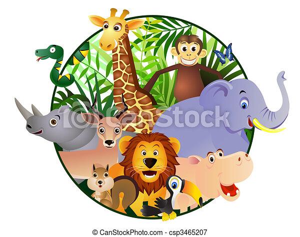 cartoon, dyr - csp3465207