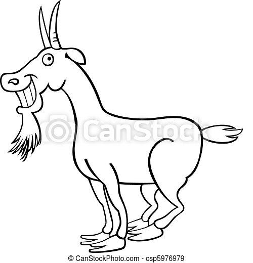 coloring bog, goat - csp5976979
