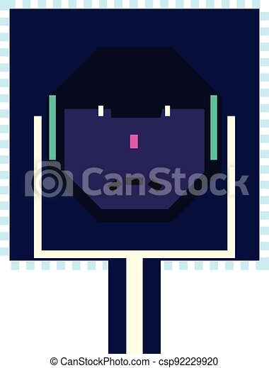 computer, depicting, afhøre, strømkreds, nej, skærve, ing ansigter, onde, tal, se, planke - csp92229920