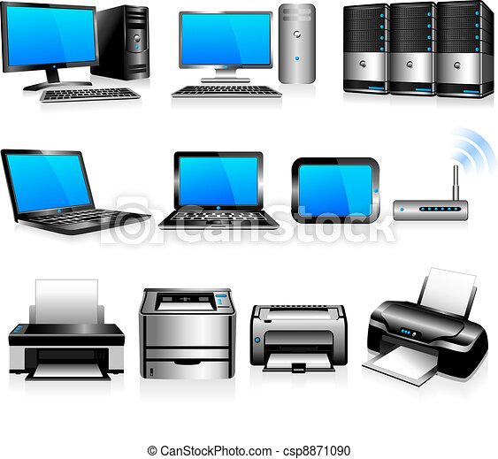 computere, teknologi, printere - csp8871090