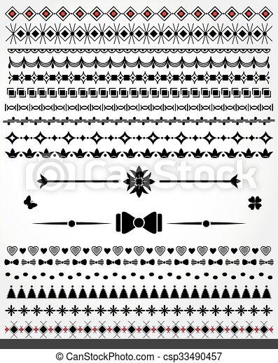 decorati, dividers, kanter, side - csp33490457