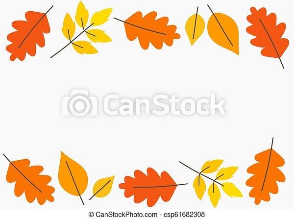 efterår forlader, grænse, baggrund - csp61682308