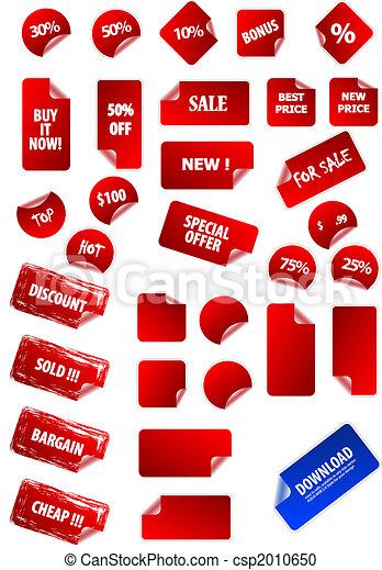 egen, tekst, etiketter, klæbrige, din, design., perfekt, væv, nogen, let, markedsføring, retro., size., stor, pris, samling, klippe, 2.0, aqua, grunge, advertisement., vektor - csp2010650
