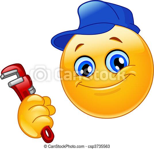 emoticon, blikkenslager - csp3735563