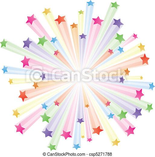 farverig, stjerner - csp5271788