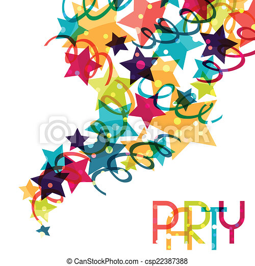 farvet, decorations., baggrund, ferie, skinnende, fest - csp22387388