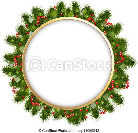firtree, branches, jul, komposition - csp11059842