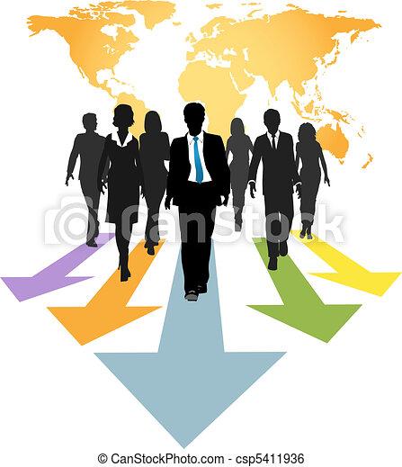 folk branche, globale, pile, frem, fremmarch - csp5411936