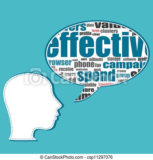 folk branche, medier, tale, sociale, bobler, samtalen - csp11297076