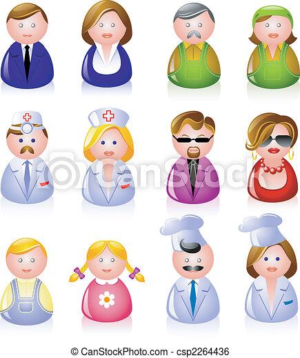 folk, iconerne - csp2264436