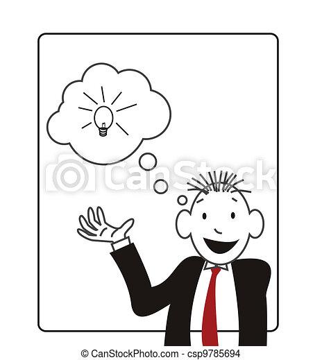 folk, ide, cartoon - csp9785694