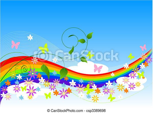 forår, abstrakt, baggrund - csp3389698