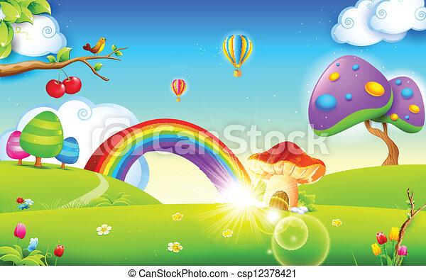 forår, natur, sæson - csp12378421