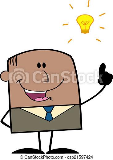 forretningsmand, lys ide - csp21597424