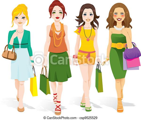 gå, mode, piger - csp9525529