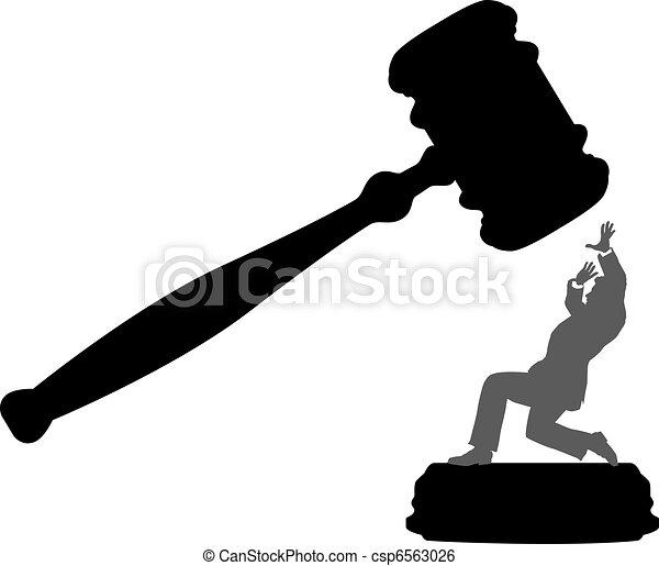gårdsplads, firma, fare, person, uretfærdighed, gavel - csp6563026