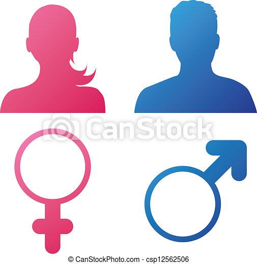 (gender, icons), bruger, opførsel - csp12562506
