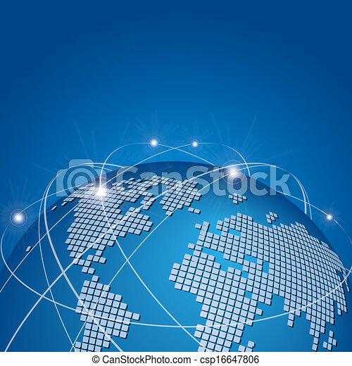 globale, vektor, teknologi, netværk, mesh - csp16647806