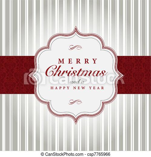 gråne, vektor, jul, rød, etikette - csp7765966