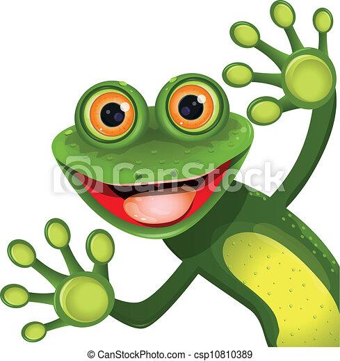 grønne, merry, frø - csp10810389