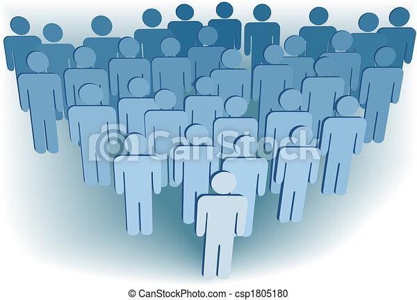 gruppe, folk, selskab, eller, congregation, befolkning, symbol, 3 - csp1805180