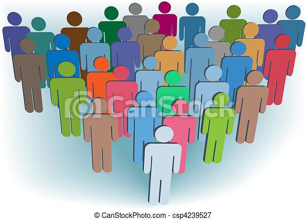 gruppe, folk, symbol, farver, selskab, eller, befolkning - csp4239527