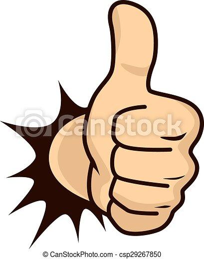guy, tommelfingre oppe, cartoon - csp29267850