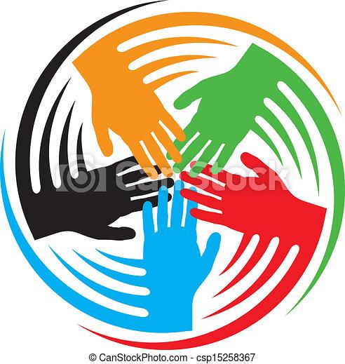 hænder, teamwork, ikon - csp15258367
