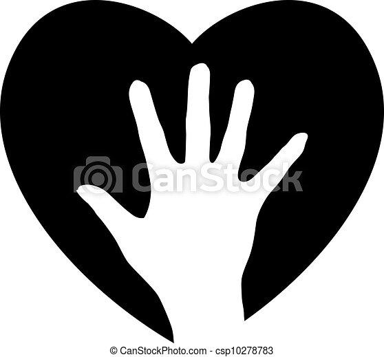 hjælper, hjerte, hånd - csp10278783