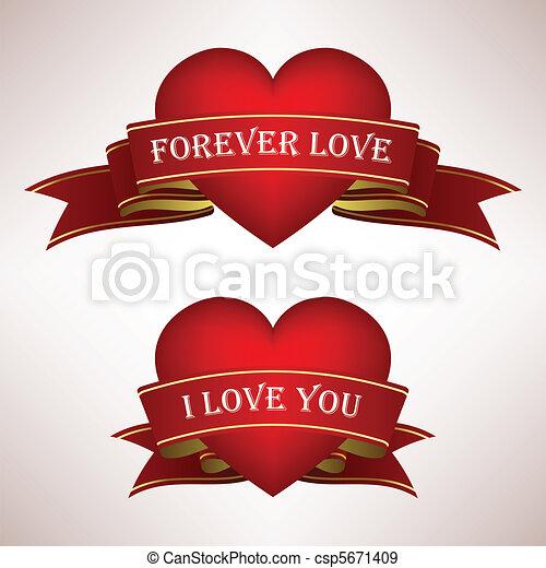 hjerte, constitutions, scroll, bånd - csp5671409