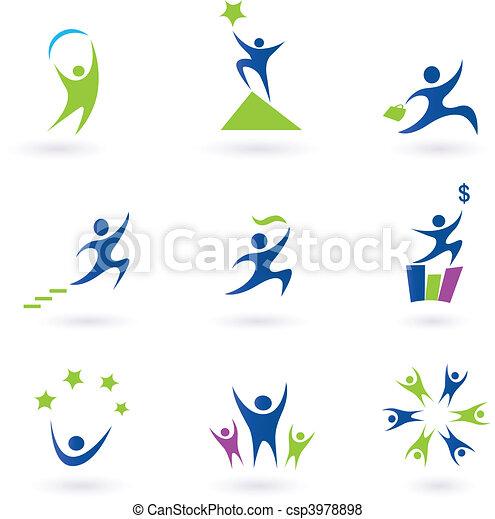 iconerne, held, sociale, firma - csp3978898