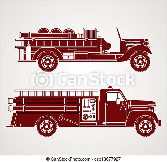 ild, vinhøst, lastbiler - csp13677927