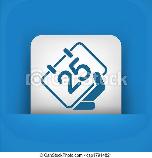 kalender, ikon - csp17914821